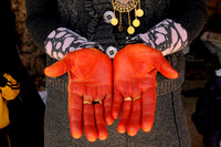 Dyed Hands for Yezidi New Year (Sere Sal), Lalish (2012)